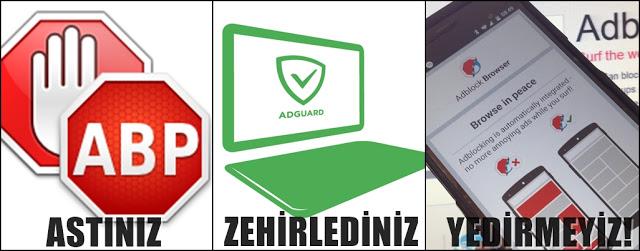 Reklam Engelleme Programları Adblock-AdGuard ve Niceleri
